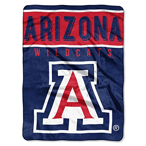 "The Northwest Company Officially Licensed NCAA University of Arizona Wildcats Basic Raschel Throw Blanket, 60"" x 80"", Navy"