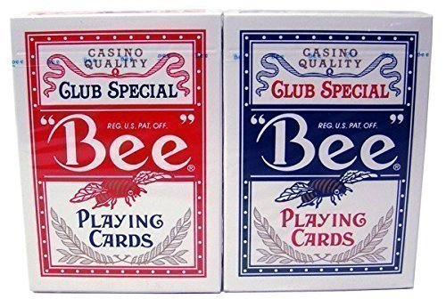 2 Decks Bee Playing Cards Red and Blue