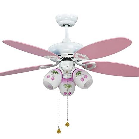 Hermoso Rosa ventiladores de techo para las niñas dormitorio ...