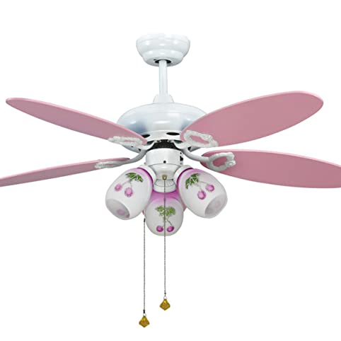 Mlsh pink ceiling fans kids with remote control for girls bedroom mlsh pink ceiling fans kids with remote control for girls bedroom 42 inch wood leaf quiet aloadofball Choice Image