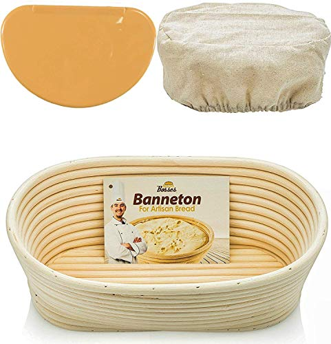 10 Inch Oval Proofing Basket Banneton Bread Proofing Basket Banneton Proofing Basket Bread Basket Proofing Proofing Baskets for Sourdough Bread Sourdough Proofing Basket Brotform Banneton Basket ()