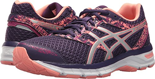 ASICS Womens Gel-Excite 4 Running Shoe, Grape/Silver/Begonia Pink, 7.5 B(M) US by ASICS