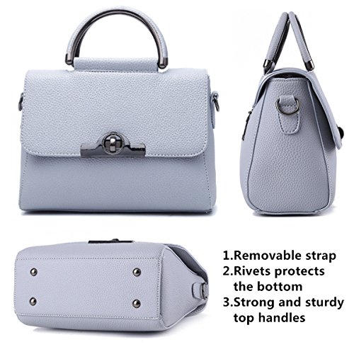 Office Satchel Crossbody Lady handle Light Luxury Cover Handbags Fashion Melord Bag for Tote Flap Women Grey Purse Top HqSgwdx
