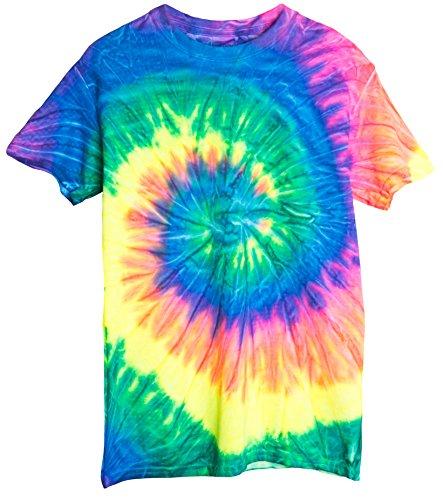 (Ragstock Tie Dye T-Shirt, Neon - L)