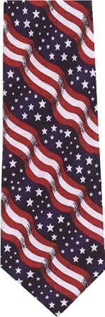 Wavy Flag New Novelty Tie