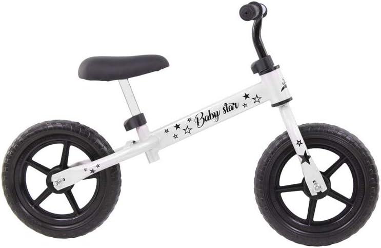 Grupo K-2 Riscko Bicicleta sin Pedales con sillín Regulable | Correpasillos Minibike | Bicicleta para Niños Baby Star