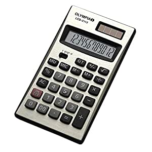 Olympia Desktop Calculator Silver Color 12 Digits