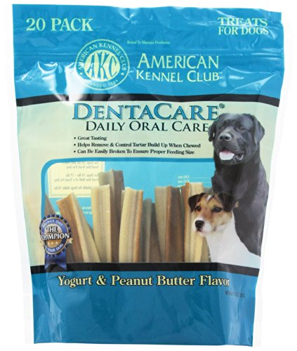 (American Kennel Club 20 Count Yogurt And Peanut Butter Dentacare Dog Treats)