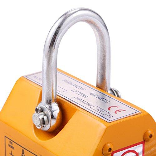 OrangeA 220LBS 100KG Steel Magnet Lifter Neodymium Magnetic Lifting Magnet Magnetic Shop Crane Metal Lifting Hoist (220LBS) by OrangeA (Image #5)