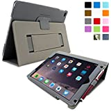 iPad Air (iPad 5) Case, Snugg™ - Smart Cover with Flip Stand & Lifetime Guarantee (Grey Leather) for Apple iPad Air (2013)