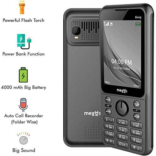 Megus Bang 2 8 Big Display Big Speaker 4000 Mah Big Battery Powerbank Function Mobile Auto Call Reciver With Dual Sim 21 Languages Support Keypad Mobile Phone Black Buy Online In Paraguay At