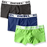 Diesel Men's 3-Pack Shawn Stretch Boxer Trunk, Charcoal/Green/Navy, Medium