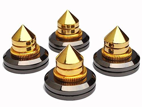 micity Solid cobre puro con 24/K chapado en oro Altavoz Spike almohadillas zapatos pies de altavoz Pin u/ñas 8/piezas