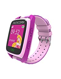 TechComm TD-09 GSM Unlocked Kids Smartwatch with GPS Tracking, Pedometer, Sleep Monitor, Remote Monitoring, Geofencing and Anti Take-Off Alarm