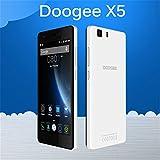 "DOOGEE X5 5.0"" Black HD IPS Android 5.1 AT&T 3G CellPhone Smartphone OTA ROM 8GB Bluetooth 4.0 Gesture Sensing FM 1280x720 Unlocked"