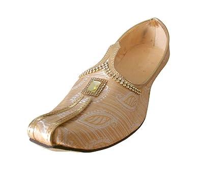 kalra Creations Zapatos de seda tradicional de la India zMn4ocA