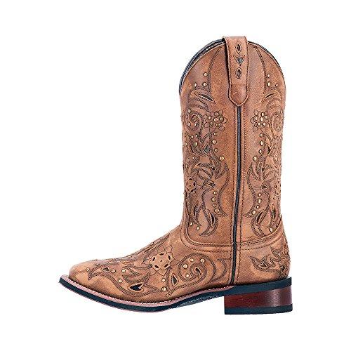 Laredo Womens Janie Western Boot Square Toe - 5643 Marrone Chiaro