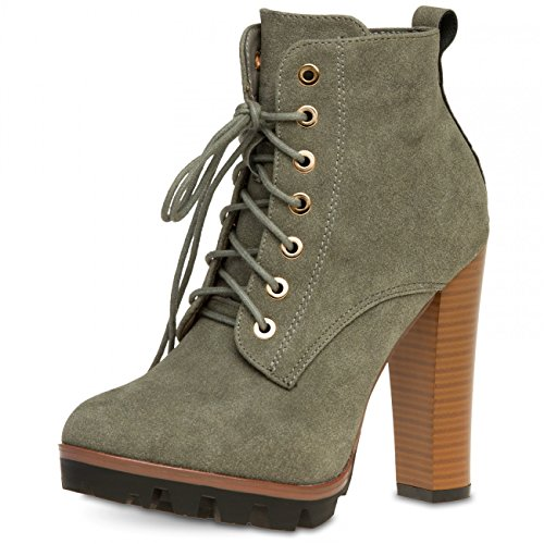 CASPAR Fashion - Botas para mujer gris