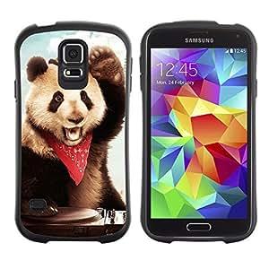 Hybrid Anti-Shock Bumper Case for Samsung Galaxy S5 / Panda DJ
