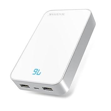 MAXOAK Cargador Portátil de Batería Externa Elegante 13000mAh Ultra Capacidad Paquete de Batería Cargador Externo con Dual USB 5V 2.1A/1A para ...