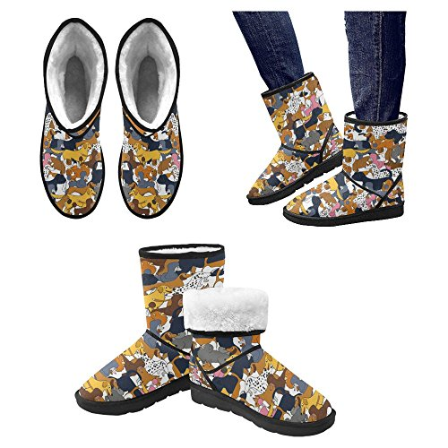 InterestPrint Womens Snow Boots Unique Designed Comfort Winter Boots Multi 25 wCsh3F