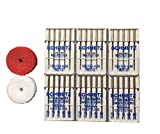 #9: 30 Schmetz Needles 15 Embroidery 75/11 and 90/14 15 Microtex 80/12 with 4 spool pin felts