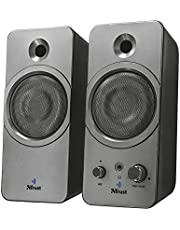 Trust 22654 Zelos 2.0 PC Bluetooth Speakers for Computer, Laptop, Tablet and Smartphone, 24 W, USB Powered, Black
