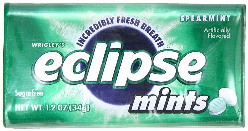 Eclipse Spearmint Sugarfree Mints,1.2-Ounce Boxes (Pack of 8) ()