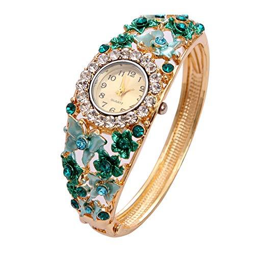 MINHIN Womens Quartz Bangle Wrist Watch Lady Crystal Jewelry Bracelet Watches from MINHIN