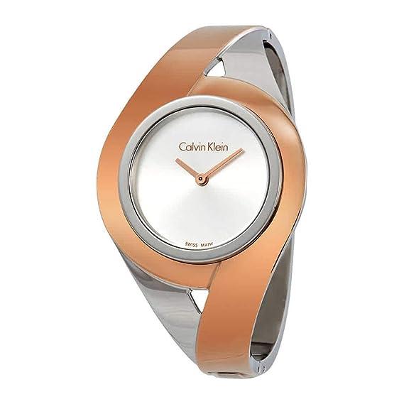 Calvin Klein Reloj Analogico para Mujer de Cuarzo con Correa en Acero Inoxidable K8E2S1Z6: Amazon.es: Relojes