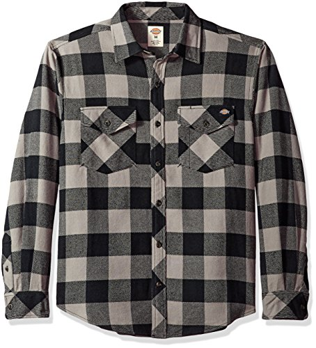 Dickies Mens Relaxed Fit Long Sleeve Brawny Plaid Shirt