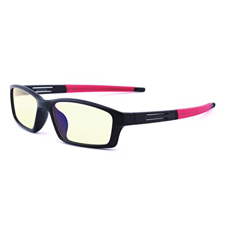 22df813e0f75 GAMEKING Ultra 9060 Blue Light Blocking Computer Glasses Gaming Glasses  with Amber Tint Lens TR90 Frame
