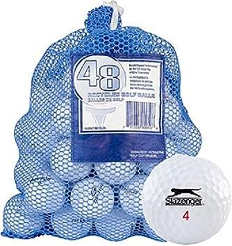 Slazenger 48 AAA Ball Bag Mix Recycled Golf Balls, White