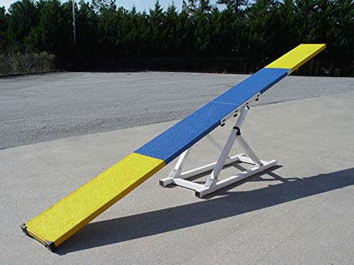 DogSport Rubber Top See-Saw in Blue 12' Long