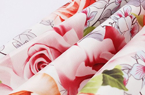 des Rose Eudolah midi Femme fleurs Jupe annees 50 imprime swing 4 txnqSx1wOp