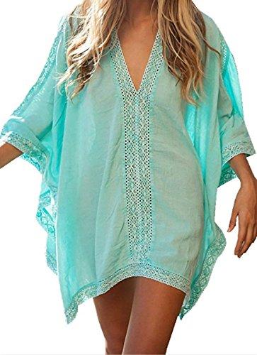HALT Womens Oversized Beach Cover up Swimsuit Dress (Blue) by HALT (Image #1)
