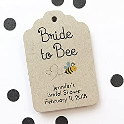 Bride to Bee Favor Tags, Bride To Be Wedding Favor Tags, Honey Wedding Hang Tags (ST-186-KR)