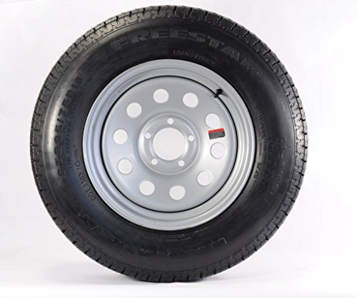 205/75D15 Trailer Tire with Rim (Silver Mod Rim)