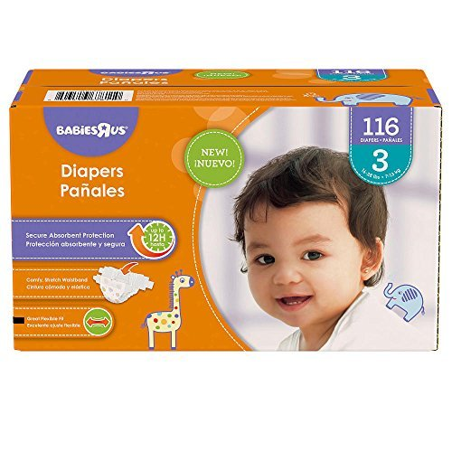 Babies R Us Size 3 Super Pack Diapers - 116 Count