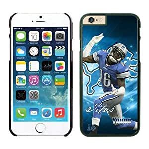 NFL iPhone 6 4.7 Inches Case Detroit Lions Titus Young Black iPhone 6 Cell Phone Case KXWFRTYE1535