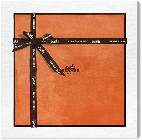 Oliver Gal 'Perfect Orange Gift' The Fashion Wall Art Decor Collection Contemporary Premium Canvas Art Print