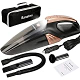 Banaton Car Vacuum Cleaner 5000PA 106W 12V Car Vacuum with LED Light Low Noise Wet and Dry Use Auto Vacuum Cleaner with 16.4FT(5M) Cord and Carrying Bag for All Vehicles
