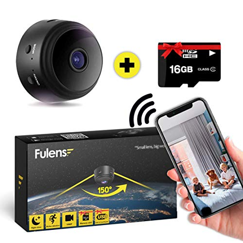 Fulens - Mini spy Hidden Camera, Night Vision WiFi spy Camera, Motion Detection Small Camera