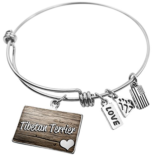 Tibetan Terrier Dog Breed - NEONBLOND Expandable Wire Bangle Bracelet Tibetan Terrier, Dog Breed Tibet