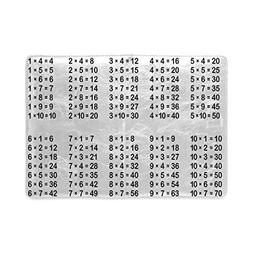 Educational Utility Notebooks,Multiplication Table on White Background Mathematics Algebra School Student Decorative for Work,5.82