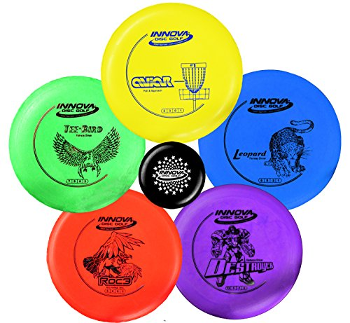 Innova Disc Golf Starter Set – Colors May Vary 160-180g – DX Putter, Mid-Range, Driver ()
