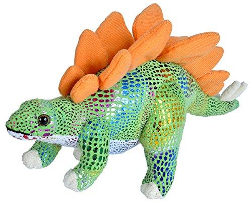 Wild Republic Stegosaurus Plush  Dinosaur Stuffed Animal  Plush Toy  Gifts For Kids  Glitter 14 Inches