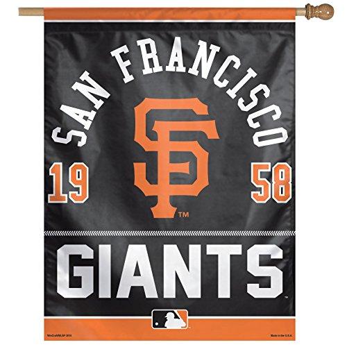 (WinCraft MLB San Francisco Giants Logo/Year Established Vertical Flag, 27 x 37)