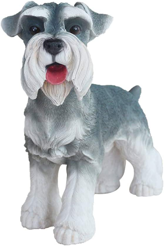 "Danmu 1Pc of Polyresin Schnauzer Dog Statue Garden Statues, Outdoor Statues, Garden Ornaments, Yard Statue for Home and Garden Decor (12 1/2"" x 5 1/2"" x 10 1/5"")"