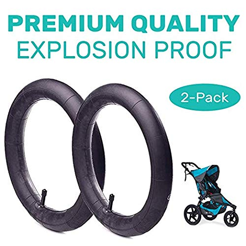 16'' x 1.5/1.75 Back Wheel Replacement Inner Tubes (2-Pack) for BoB Revolution SE/Pro/Flex/SU, Graco Click/Go Jogging - Made from BPA/Latex Free Premium Quality Butyl Rubber 511AV72BY5KL
